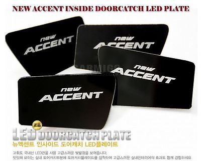 Acrylic LED Inside Door Catch Plate For HYUNDAI Accent Solaris 2011 2015