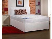 Brand new divan bed base with orthopedic mattress