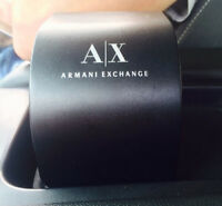 Black and Gold Armani Exchange Watch