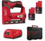 Milwaukee M12 BST-202X 12V Li-ion Tacker set (2x 2.0Ah ac...