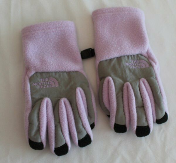 The North Face Purple Lavendar Fleece Youth Girls Gloves UR Powered S Small