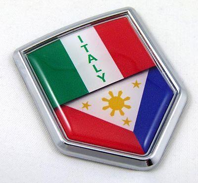 Puerto Rico Split Flag Car Chrome Emblem Decal Sticker with adhesive Jamaica