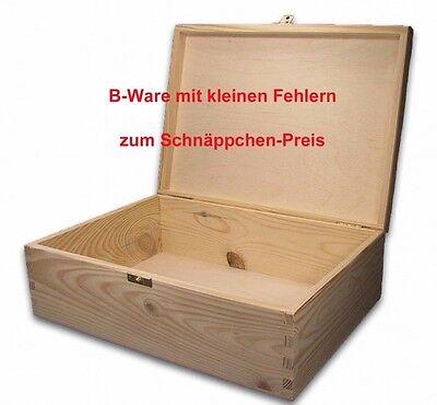 B-Ware, große Holz-Schatulle Holz-Kassette Holzbox, geeign. für A4 Kiefer unbeh.
