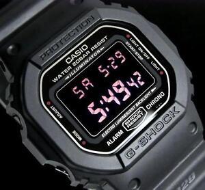CASIO-G-SHOCK-DW5600MS-1-DW-5600MS-1-MATTE-MILITARY-ARMY-BLACK-NEG-DISPLAY