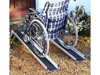 5FT 6FT 7FT TELESCOPIC ALUMINIUM RAMPS WOULD SUIT MOBILITY SCOOTER OR WHEEL CHAIRS VANS TRAILERS