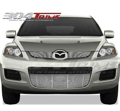 FITS MAZDA CX7 CX-7 2007-2009 STAINLESS CHROME BILLET GRILLE INSERT TOP & BOTTOM