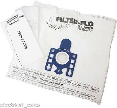 4 x Fjm Sacchetti Per Aspirapolvere Per Miele S744 S745 S748 Hoover UK