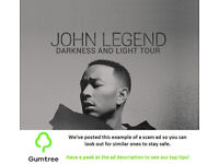 John Legend Tickets -- Read the ad description before replying!!