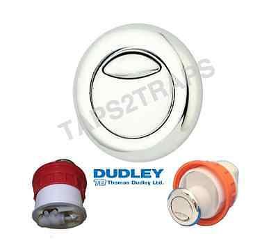 DUDLEY VANTAGE CHROME DIO DUAL FLUSH 51mm ROUND PNEUMATIC PUSH BUTTON 322408