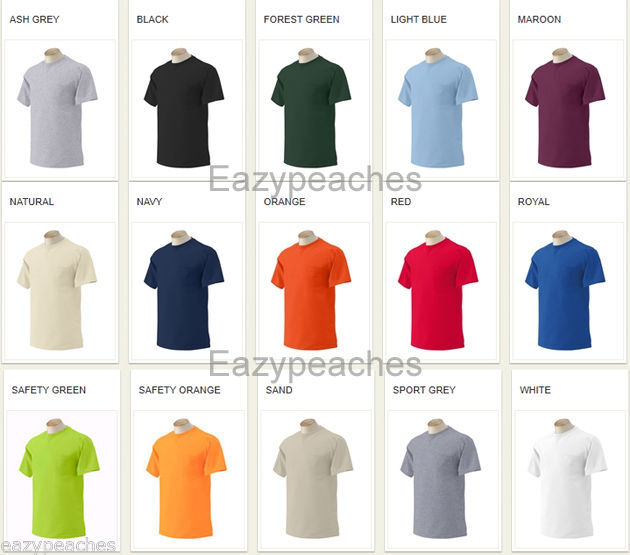 Gildan Mens NEW Size S-XL 2XL 3XL 4XL 5XL Pocket Tees 100/% Cotton T-Shirts 2300