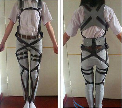 Cosplay Attack On Titan Shingeki no Kyojin Belt Adjust Straps Allen Harness