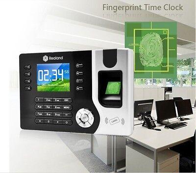 Realand Biometric Time Attendance Tracking System Fingerprint Device Usb Id Card