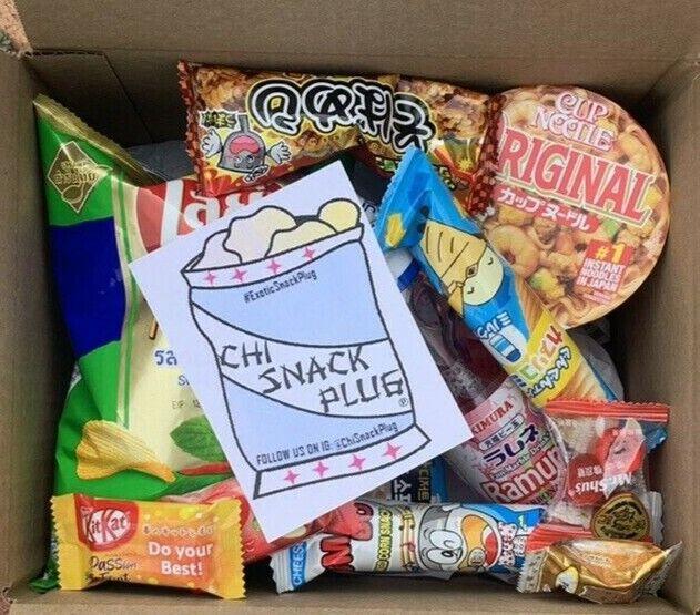 Large Japan Exotic Snack Box- 13pc Drink & Big Snacks