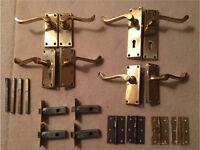 Brass door handles and catches