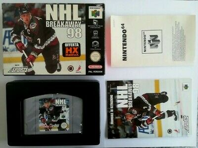 NHL BREAKAWAY 98 Nintendo 64 PAL °°° Come nuovo °°° N64