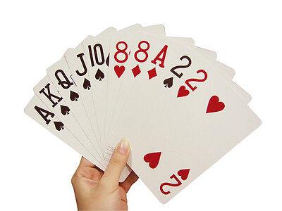 Übergröße 90x130mm Senioren Karten XXL 54 Blatt große Zahl (übergroße Spielkarten)