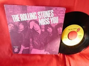 THE-ROLLING-STONES-Miss-you-Far-away-eyes-45rpm-7-039-PS-1978-ITALY-EX