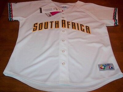 WOMEN'S SOUTH AFRICA BASEBALL STITCHED JERSE LARGE NEW
