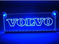 12v LED cabin interior light playe for volvo truck neon illuminating table sign x2