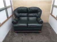 *FREE* green leather sofa