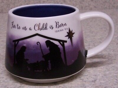 12 Ounce To Cup (Coffee Mug Christmas For To Us A Child is Born NEW 12 ounce cup with gift)