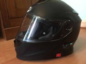 Bluetooth Motorbike Front Flip Helmet Matte Black