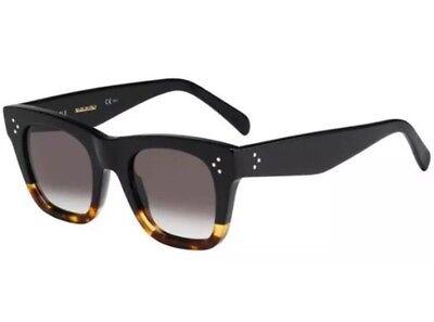 Celine CL 41089/S FU5/Z3 Catherine Black/Havana/Tortoise Women Sunglasses Small