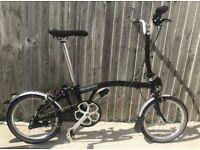 Brompton M3L 2017 Folding Bike - Black 3 Speed - Excellent condition