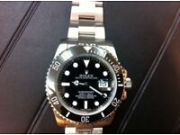 Rolex Submariner full brushed steel with glidelock