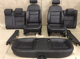 VAUXHALL VECTRA C COMPLETE LEATHER INTERIOR FRONT HEATER SEAT plus door cards