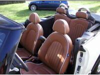 Mini Cooper R52 brown leather interior