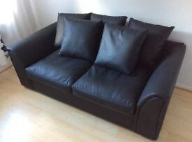 SOLD Faux Leather Sofa Bed