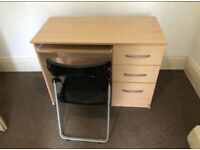 Desks and chair.