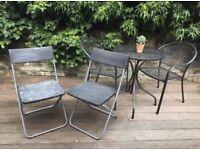 Foldable Black Plastic Chair