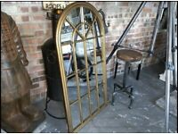 Brand New Boxed Gold Arched Mirror