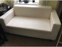 Small Ikea cream sofa