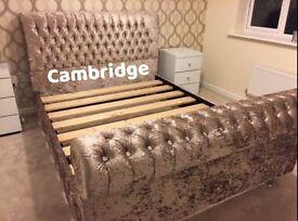 Brand new crushed velvet Cambridge bed