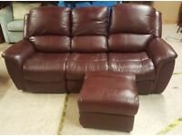 LAY-Z-BOY Layzboy lay z boy leather sofa settee electric recliner PAT TESTED free delivery