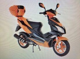 50cc scooter. Minor paint work damage. Bargain Price!