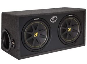 Kicker 12 Inch built in 2 Subwoofers Box