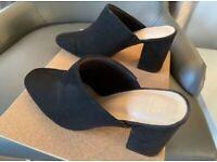 Marks & Spencer M&S Mule Ladies Black Insolia Slip On Shoes, Heels. Size UK 3.5.