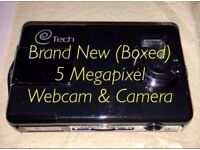 Brand New BRAND NEW IN BOX - Unused 5 Megapixel Webcam, Photo & Video Camera - SD Card