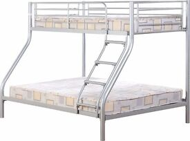 Metal triple bunk bed with Mattress new