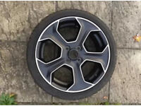 Ford Fiesta st200 st180 diamond cut alloy wheel with continental tyre