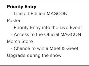 Magcon Priority tickets Melbourne (day 1) Maryborough Central Goldfields Preview