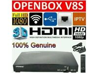 Skybox Openbox V8S with 12 month gift - includes all premium satellite channels