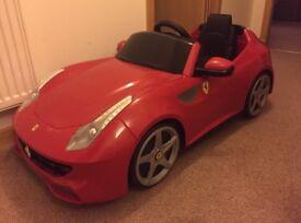 Kids electric ride on Ferrari