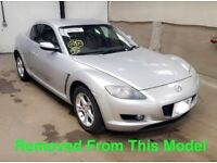 MAZDA RX8 2.6 PETROL SILVER BREAKING FOR ALL PARTS