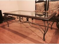 Beautiful Glass & Wood Coffee Table | Cheap & Very Good Condition