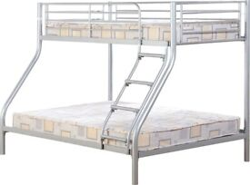 ☀️💚☀️Superb Quality☀️💚☀️TRIO METAL BUNK BED FRAME DOUBLE BOTTOM & SINGLE TOP HIGH QUALITY